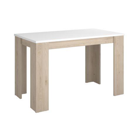 Table de cuisine Andres - blanc/chêne