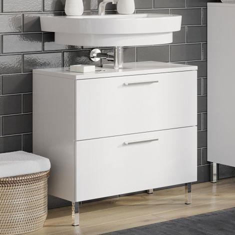 Meuble sous lavabo Artis 60cm avec 2 tiroirs - blanc