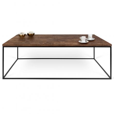 Table basse Gleam 120x75 - rouille/acier