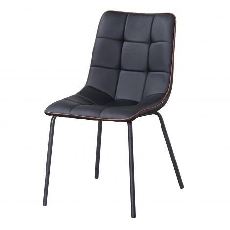 Lot de 4 chaises Lucie - noir