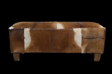 Canapé décoratif Bangku - peau de chèvre - teck