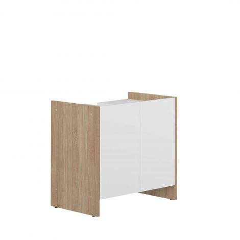 Meuble sous lavabo Biarritz - blanc/chêne
