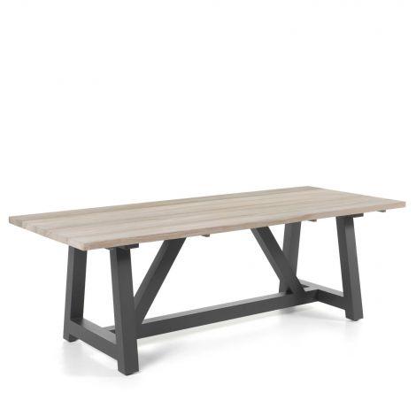 Table à manger Devonport - gris foncé