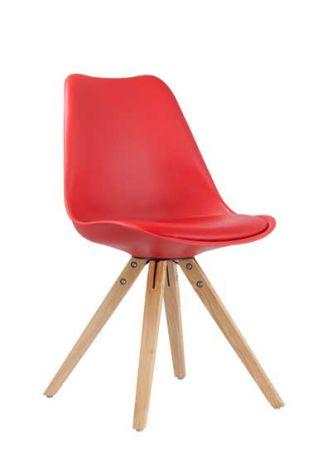 Chaise 'Lady' Rouge/Rouge - Set de 2