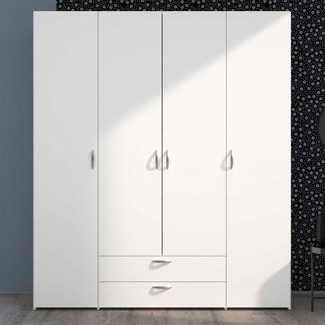 Armoire de rangement Salvador 4 portes & 2 tiroirs - blanc