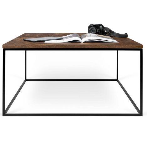 Table basse Gleam 75x75 - rouille/acier