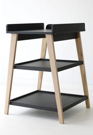 Table à langer June - noir