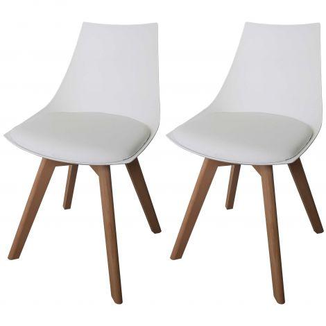 Jeu de 2 chaises Cosmo - blanc