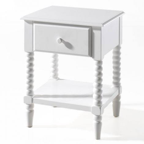 Table de chevet Alana - blanc