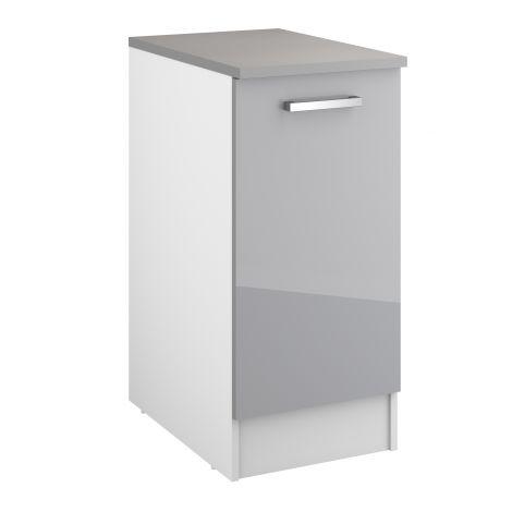 Meuble bas Eli 40 cm avec porte - gris