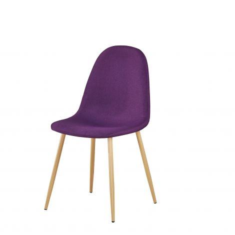 Lot de 4 chaises Yo - violet