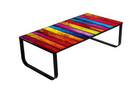 Table basse Arc-en-ciel 105x55 métal
