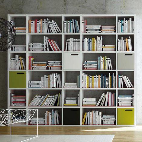 Bibliothèque Pombal 30 niches - blanc