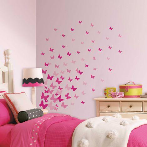 Stickers muraux Pink Flutter Butterflies