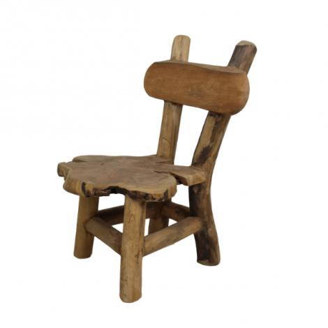 Chaise d'enfant Flinstone - teck ancien