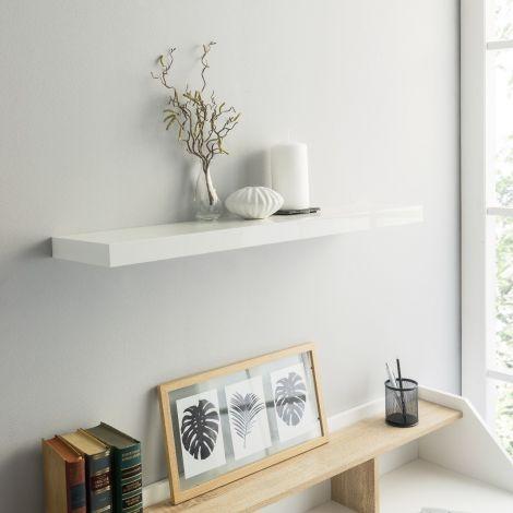 Tablette murale Shelvy 80cm - blanc brillant