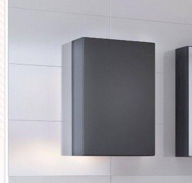 Meuble suspendu Brama/Kornel/Pisca 40cm 1 porte - graphite/gris mat