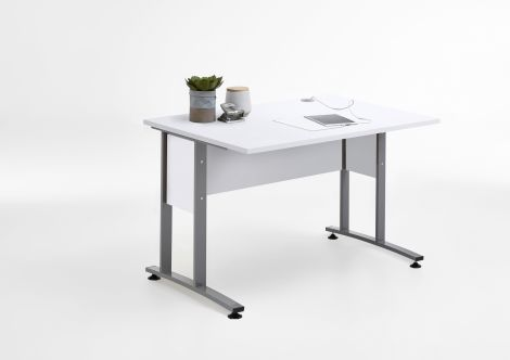 Bureau Gabi 120cm - blanc brillant