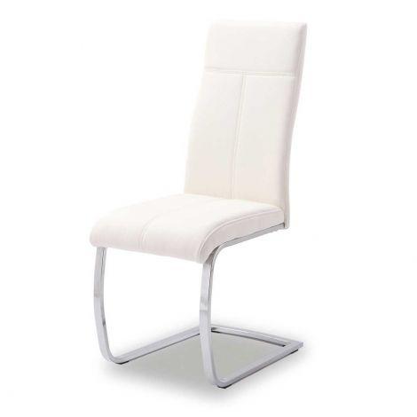 Lot de 2 chaises cantilever Elio - blanc