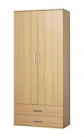 Armoire Ronny 2 portes & 2 tiroirs - hêtre