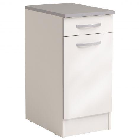 Meuble bas Spott 40x60 cm avec tiroir et porte - glossy white