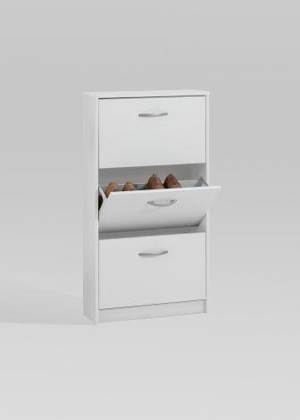 Armoire à chaussures Step à 3 tiroirs - blanc