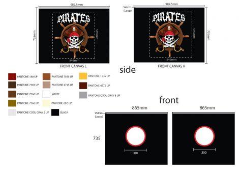 Tente de lit Pirates