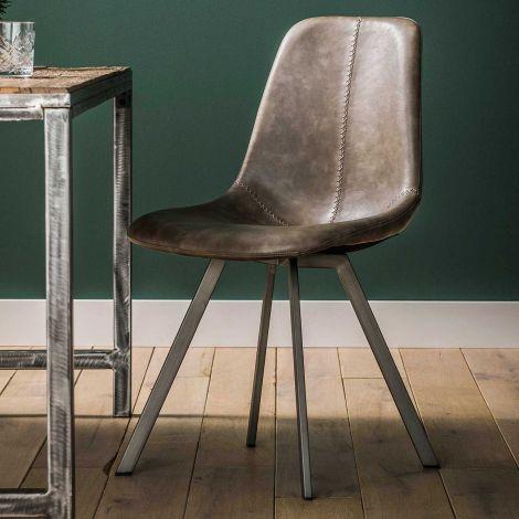 Set de 4 chaises Zigi - taupe