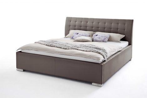 Lit Isa Confort 200x200cm - brun