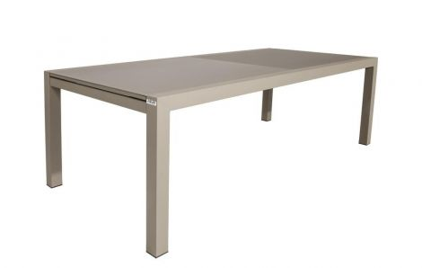 Table de jardin extensible Kingstown 220/330 - champagne/taupe