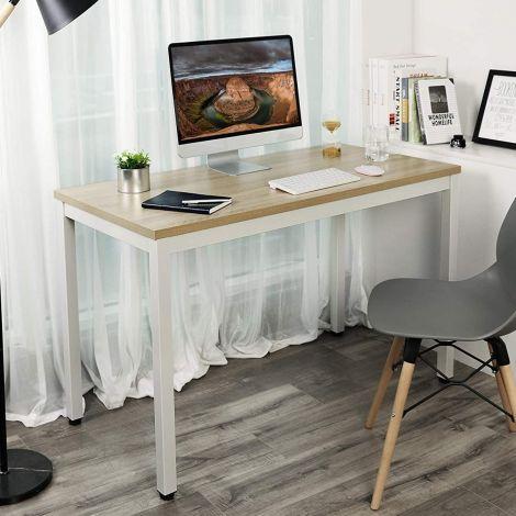 Table de bureau Joris 120cm - bois/blanc