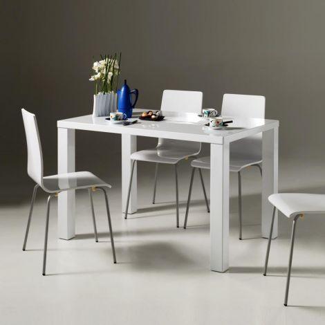 Table Elisa 120x80 cm - blanc