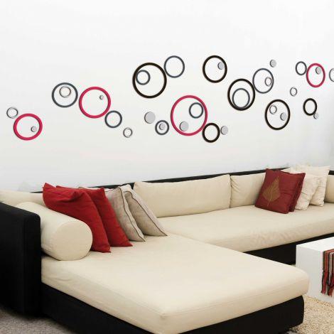 Stickers muraux 3D Circles - mousse