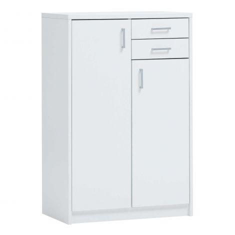 Commode Spacio 2 portes & 2 tiroirs H 110cm - blanc
