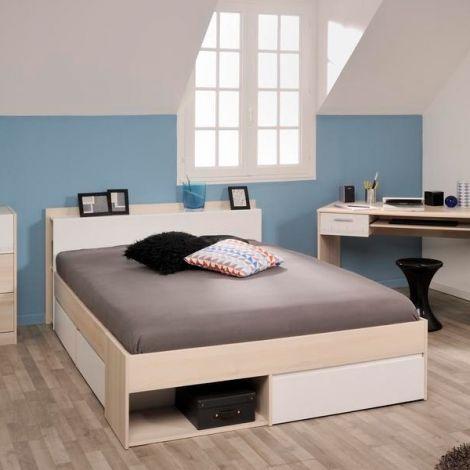 Lit Marseille 140x190/200cm - acacia