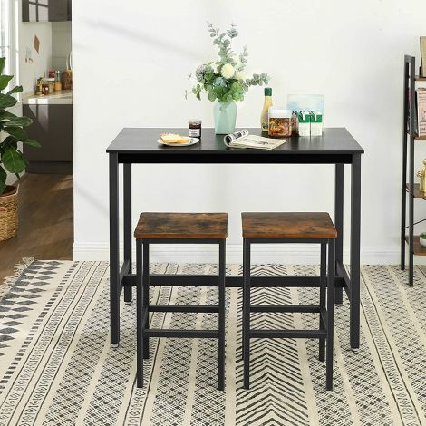 Table de bar Isolde 120x60 - noir