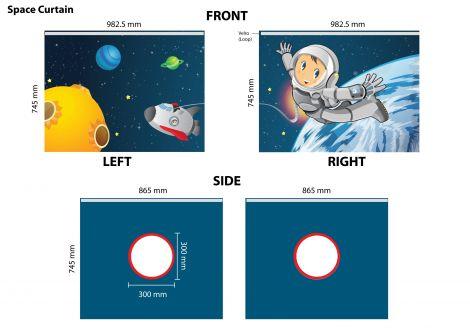 Tente de lit Astronaute