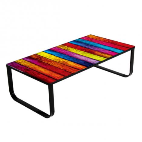 Table basse Regenboog 105x55 métal