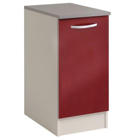 Meuble bas Spott 40x60 cm avec porte - glossy red