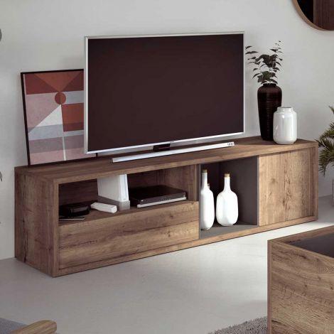 Meuble tv Frame 177cm - chêne foncé