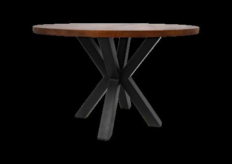 Table à manger ronde Oakland ø130cm - bois de manguier/fer