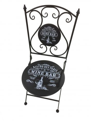 Chaise de jardin Bistro - noir