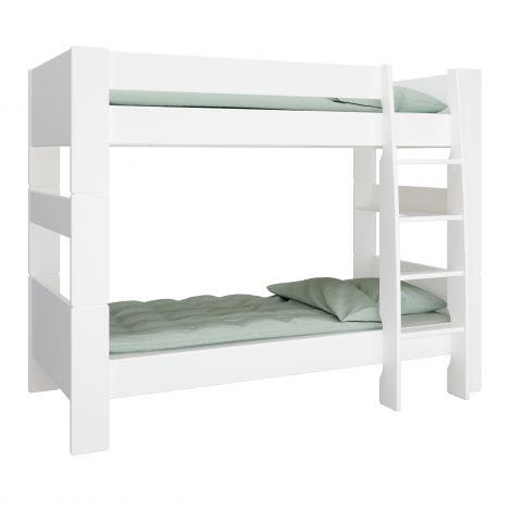 Lit superposé Skagen 90x200 - blanc
