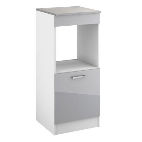 Armoire de cuisine pour four Eli avec porte - gris