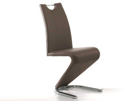 Lot de 2 chaises Lineo - brun