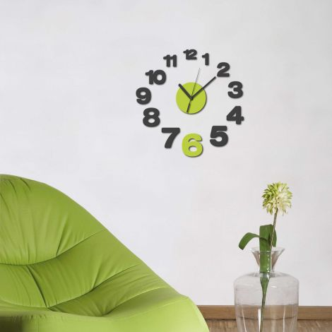 Stickers muraux 3D Horloge Growing - mousse