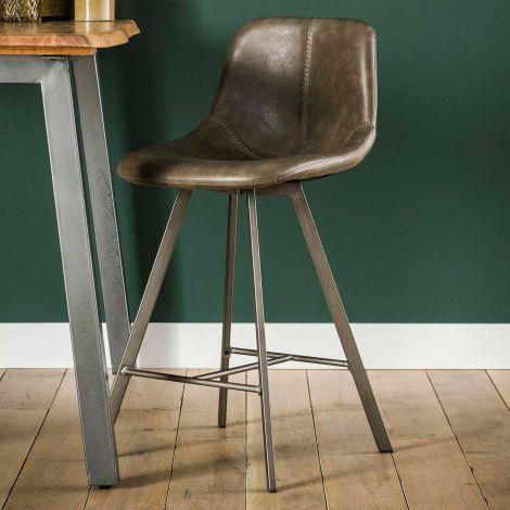 Set de 4 chaises de bar Zigi - taupe
