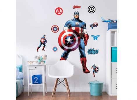 Sticker mural XL Captain America