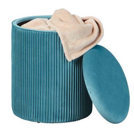 Pouf Sofiane ø35 cm - bleu