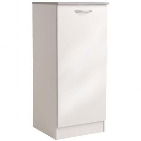 Armoire de cuisine Spott H140 cm avec porte - glossy white